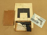 1968 Vintage Walther P-38 Pistol in 9mm w/ Box, Manual, & Test Target