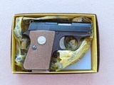 """1973 Colt Automatic Caliber .25 Pistol w/ Box, Manual(Previously Called """"Junior"""")** Last Year of Production Model ** SOLD"""