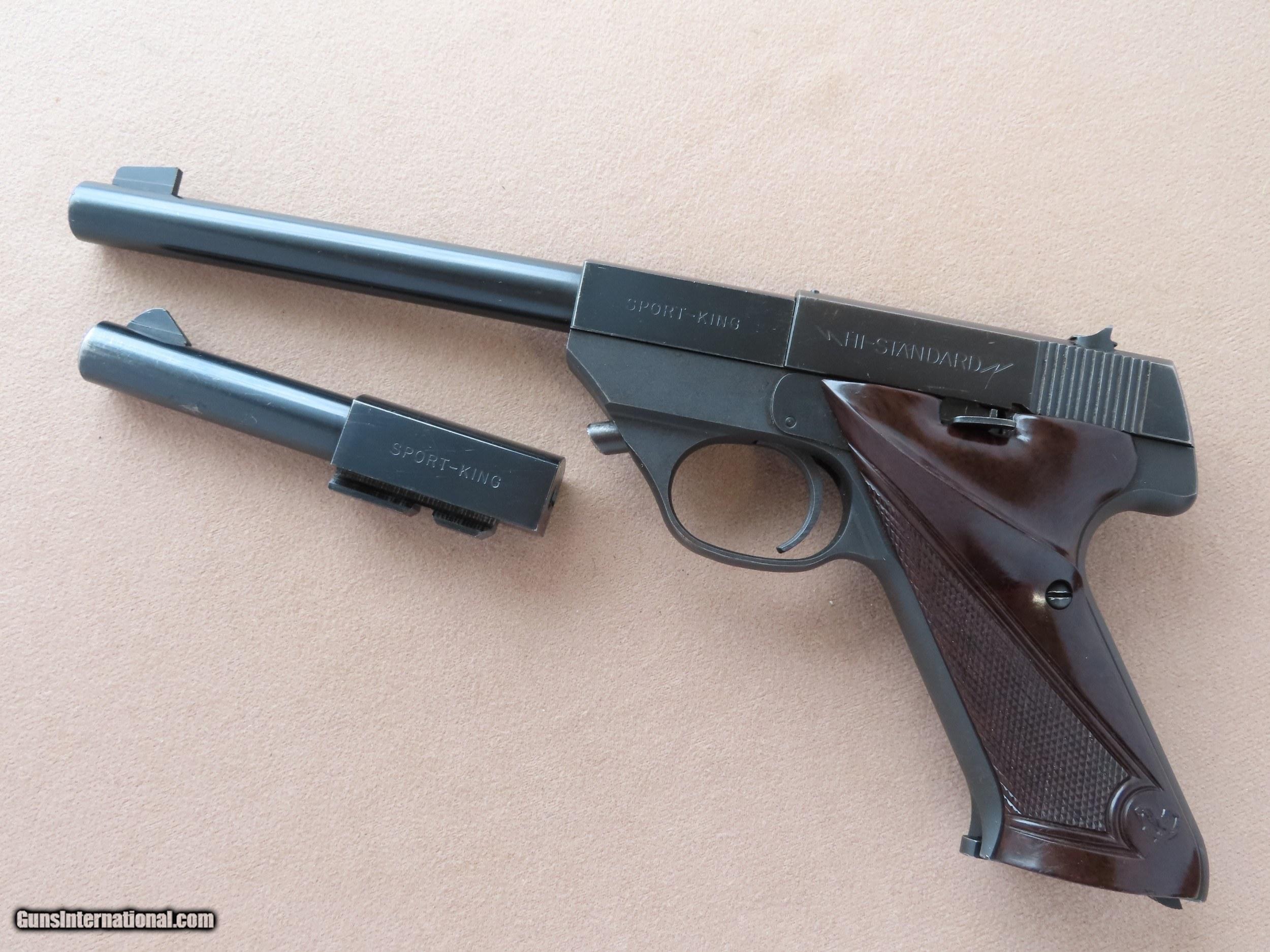 Late 1950s Vintage Hi Standard Sport King 22lr 100 Series Pistol