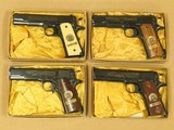 1960's Vintage Set of World War 1 Commemorative Colt 1911's w/ Original Boxes, Display Cases, Etc.** Excellent Unfired SET **