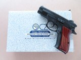 2003 CZ Model 75 D Compact 9mm Pistol w/ Box, Manual, Test Target, Extra Mag, Etc.