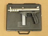 1994 Vintage A.A. Arms Model AP9 Matte Nickel Plated 9mm Pistol w/ Original Box, Manuals, & 2-20rd Magazines