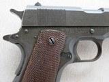 WW2 Remington Rand 1911A1 .45 A.C.P. MFG. 1943 **W/ Belt & Holster Rig** - 22 of 24