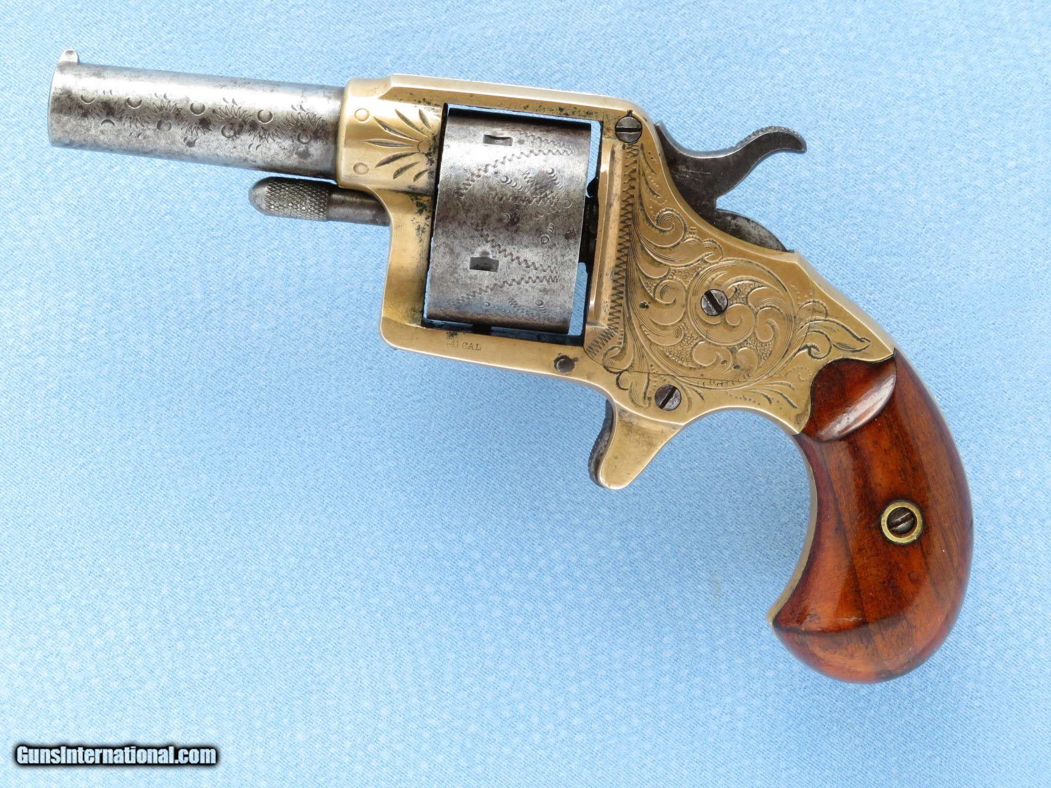 Colt 5-Shot House Revolver, Factory Engraved, Cal   41 RF