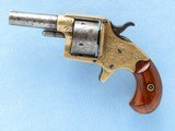 Colt 5-Shot House Revolver, Factory Engraved, Cal. .41 RF, 1879 Vintage, 2 5/8 Inch Barrel