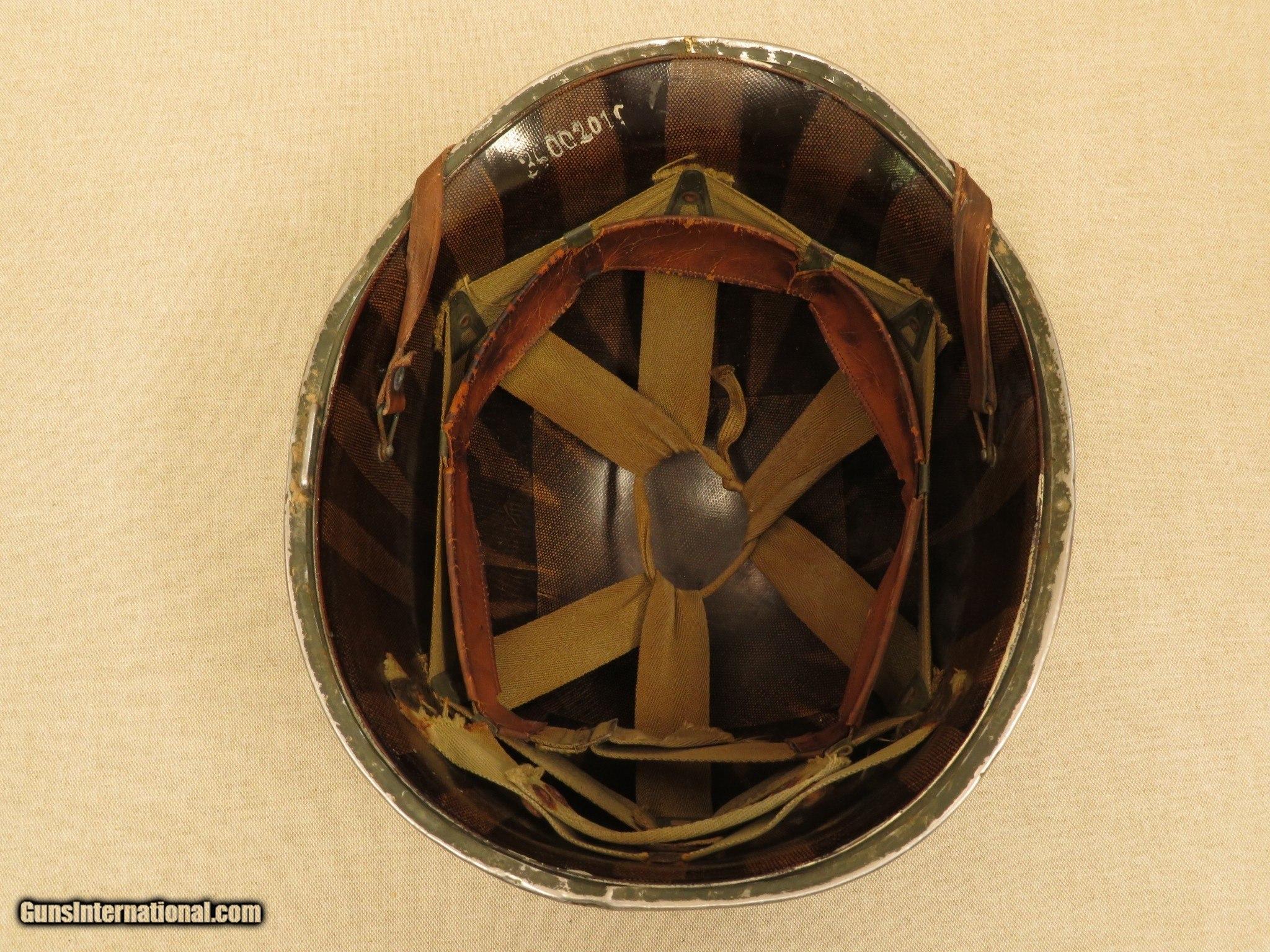 WW2 U S  M1 Helmet from 1st Lt  W  Gerhardt of the 36th