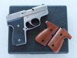 Kahr Mk9 Micro Series Elite 98 Stainless 9mm Pistol w/ Box, Manuals, Extra Mag, & Extra Factory Walnut Grips** Exceptional Carry Pistol ** SOLD