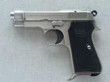 1960's Vintage Beretta Model 1934 .380 ACP Pistol w/ Nickel Finish** Beautiful Vintage Beretta **