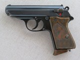 Scarce 1939 Walther PPK Commercial Dural Frame Duralumin W/ Green Cast Anodizing .32 A.C.P. 7.65 MM **Crown N Proofed**