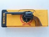 1961 Vintage Ruger Old Model Single Six .22 WRF Flat Top Revolver w/ Factory Added .22 LR Cylinder & Parts