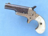 Colt Third Model Derringer (Thuer Model), Factory Engraved, Cal. .41 RF, 1885 Vintage