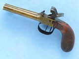 Double Barrel Pocket Pistol, Belgian Manufactured, .36 Caliber Percussion - 10 of 12