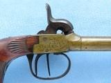 Double Barrel Pocket Pistol, Belgian Manufactured, .36 Caliber Percussion - 4 of 12