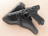 Mauser byf 42 ( Black Widow) Luger, with 1942 Dated Holster, Cal. 9mm, with 1942 Dated Holster SOLD
