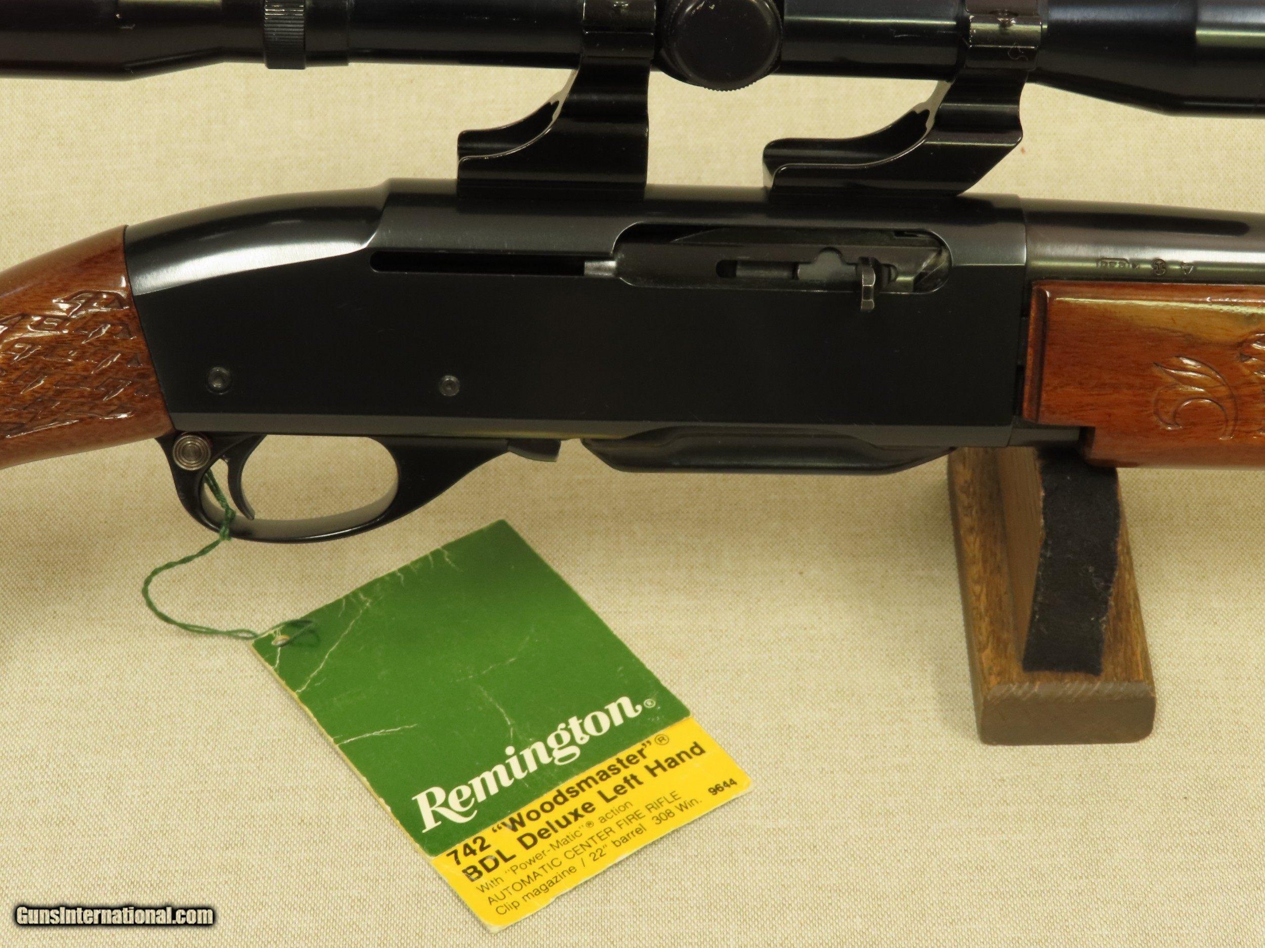 1977 Remington Woodsmaster Model 742 BDL Deluxe Left Handed