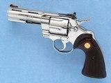 Colt Python Ultimate Bright Stainless Steel, Cal. .357 Magnum, 4 Inch Barrel, 1996 Vintage