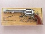 "Uberti 7.5"" Nickel Finish 1873 Cattleman New Model w/ 1-Piece Walnut Grip in .45 LC** Excellent Condition w/ Original Box, Manuals, Etc. **"
