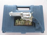"""2000 Vintage Nickel Finish American Western Arms 4"""" Model 1873 Peacekeeper in .45 Colt w/ Original Box, Manual, Etc.** Unfired and Mint! **"""
