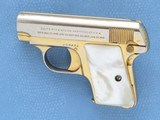 Cased Consecutive Pair of Colt 1908's, Gold Plated with Pearl Grips, Cal. .25 ACP - 10 of 19