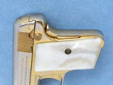 Cased Consecutive Pair of Colt 1908's, Gold Plated with Pearl Grips, Cal. .25 ACP - 13 of 19
