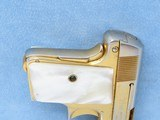 Cased Consecutive Pair of Colt 1908's, Gold Plated with Pearl Grips, Cal. .25 ACP - 14 of 19