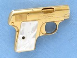 Cased Consecutive Pair of Colt 1908's, Gold Plated with Pearl Grips, Cal. .25 ACP - 4 of 19