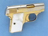 Cased Consecutive Pair of Colt 1908's, Gold Plated with Pearl Grips, Cal. .25 ACP - 11 of 19