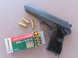 1952 Vintage CZ Model 52 Pistol in 7.62x25 Tokarev w/ Extra Mag** Beautiful All-Original Example of this Powerful Czech Military Pistol ** SOLD - 25 of 25