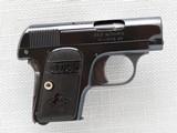 Colt 1908 Vest Pocket Model Hammerless, Cal. .25 ACP, 1911 Vintage, High Polish Blue SOLD - 2 of 8