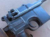 WW1 Mauser C96 Broomhandle Pistol in .30 Mauser** All-Matching and All-Original ** SOLD - 25 of 25