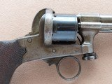 Beautiful & Unique Antique Mariette Brevete Pinfire Double-Action Revolver** Ring Trigger & Serial Number 6 ** - 8 of 25