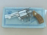 "1976 Vintage Nickel 3"" Smith & Wesson Model 36 ""Chief's Special"" in .38 Special w/ Box, Etc.