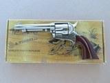 Nickel Uberti 1873 Cattleman New Model in .45 Colt w/ Original Box, Paperwork** Beautiful Nickel Single Action ** SOLD