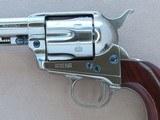 Nickel Uberti 1873 Cattleman New Model in .45 Colt w/ Original Box, Paperwork** Beautiful Nickel Single Action ** SOLD - 4 of 24