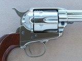 Nickel Uberti 1873 Cattleman New Model in .45 Colt w/ Original Box, Paperwork** Beautiful Nickel Single Action ** SOLD - 8 of 24