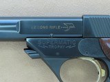 1967 to '68 Vintage High Standard Military Model 106 Supermatic Trophy .22 Pistol in Factory High-Gloss Trophy Blue** Exceptional Example ** - 25 of 25