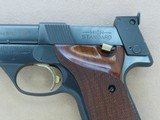 1967 to '68 Vintage High Standard Military Model 106 Supermatic Trophy .22 Pistol in Factory High-Gloss Trophy Blue** Exceptional Example ** - 3 of 25