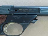 1967 to '68 Vintage High Standard Military Model 106 Supermatic Trophy .22 Pistol in Factory High-Gloss Trophy Blue** Exceptional Example ** - 24 of 25