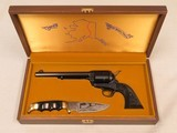 Colt Single Action Army Trans Alaska Pipeline Commemorative with Kershaw Knife, Cal. .45 LC, 1977 Vintage SOLD - 1 of 9