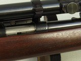 "1950 Vintage Winchester Model 43 Rifle in .22 Hornet w/ Vintage Norman-Ford ""Texan"" 2.5X Scope