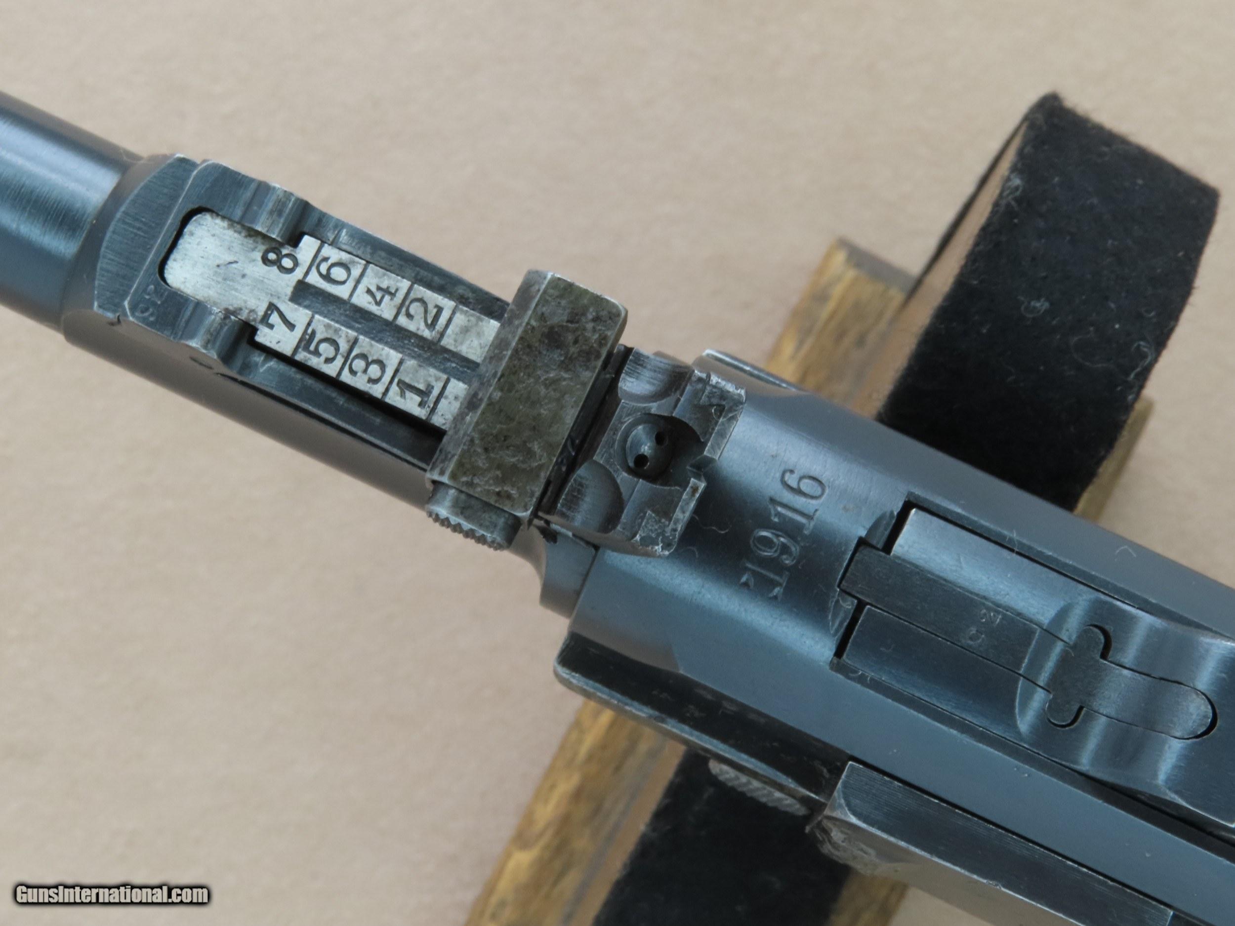 WW1 Vintage 1916 DWM Artillery Model Luger in 9mm Luger
