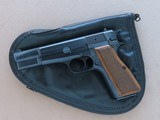 1982 Vintage Browning High Power 9mm Pistol w/ Original Factory Pouch** Honest All-Original Example ** SOLD - 1 of 25