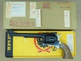 1979 Vintage Factory Customized .45 LC/.45 ACP Ruger Blackhawk Revolver w/ Boxes, Paperwork, Extra Frame** Unique Factory Custom Gun ** SOLD