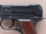 WW2 1944 Japanese Military Type 94 Nambu Pistol w/ Factory Date Error, Matching Mag, & Homemade Holster** All-Matching Gun ** - 4 of 25