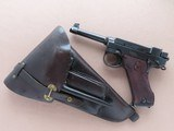 1944 Vintage Husqvarna M40 Lahti in 9mm Luger w/ Original Holster, Etc.** WW2 Danish Brigade & Police Gun **