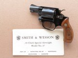Smith & Wesson Model 37 .38 Special Blue Chief's Special Airweight w/ original instructions **MFG. 1982**