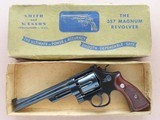 1955 Vintage Smith & Wesson Pre-27 .357 Magnum Revolver w/ Gold Factory Box