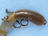 Rare Italian Copy of Volcanic Lever Action Pistol, 1850's-1860's Vintage - 7 of 10