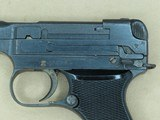 1942 Imperial Japanese Military Nagoya Nambu Type 94 Pistol in 8mm Nambu w/ Partial Holster and Extra MagSOLD - 4 of 25