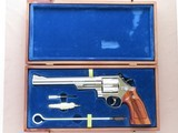 """1976 Nickel Smith & Wesson Model 29-2 .44 Magnum Revolver w/ 8 & 3/8"""" Barrel and Presentation Case** Flat Mint & Unfired!! ** SOLD"""